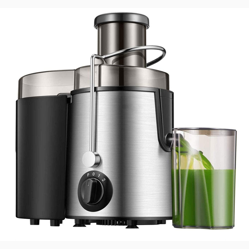 Homlpope Centrifugal Juicers Machine, Juice Extractor 3 Speed Model, Press Centrifugal Juicing Machine with BPA Free Material, Fruit Vegetable Juicer Easy to Clean
