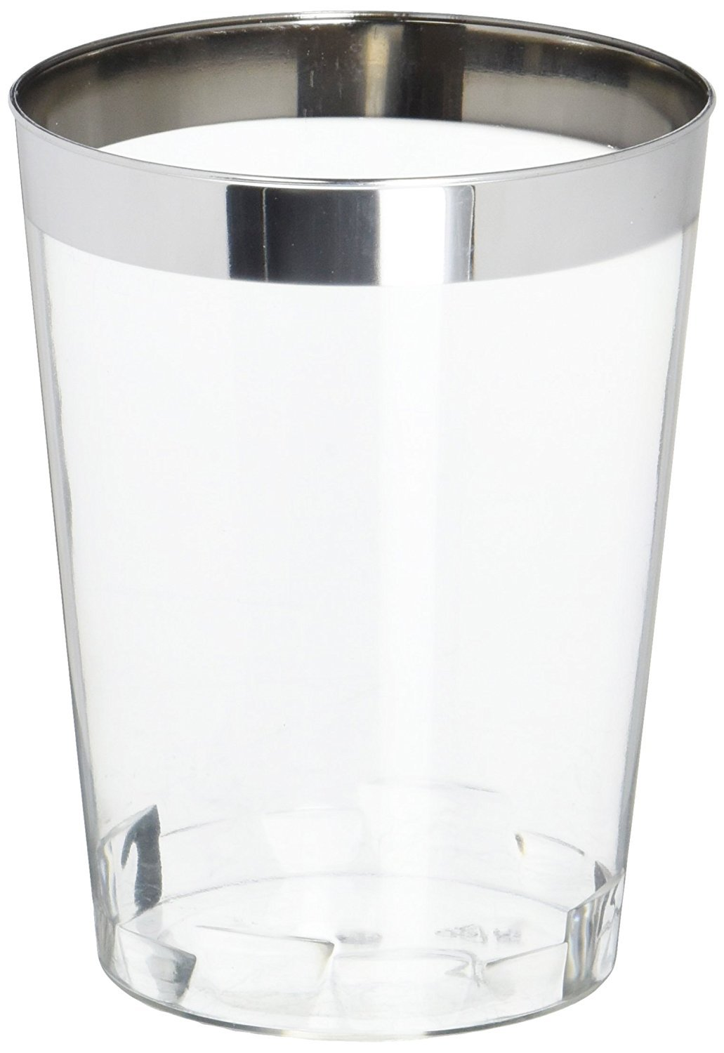 OCCASIONS Disposable Plastic Stemware/ Cups (400, 10 oz Silver Rimmed Tumblers) by OCCASIONS FINEST PLASTIC TABLEWARE