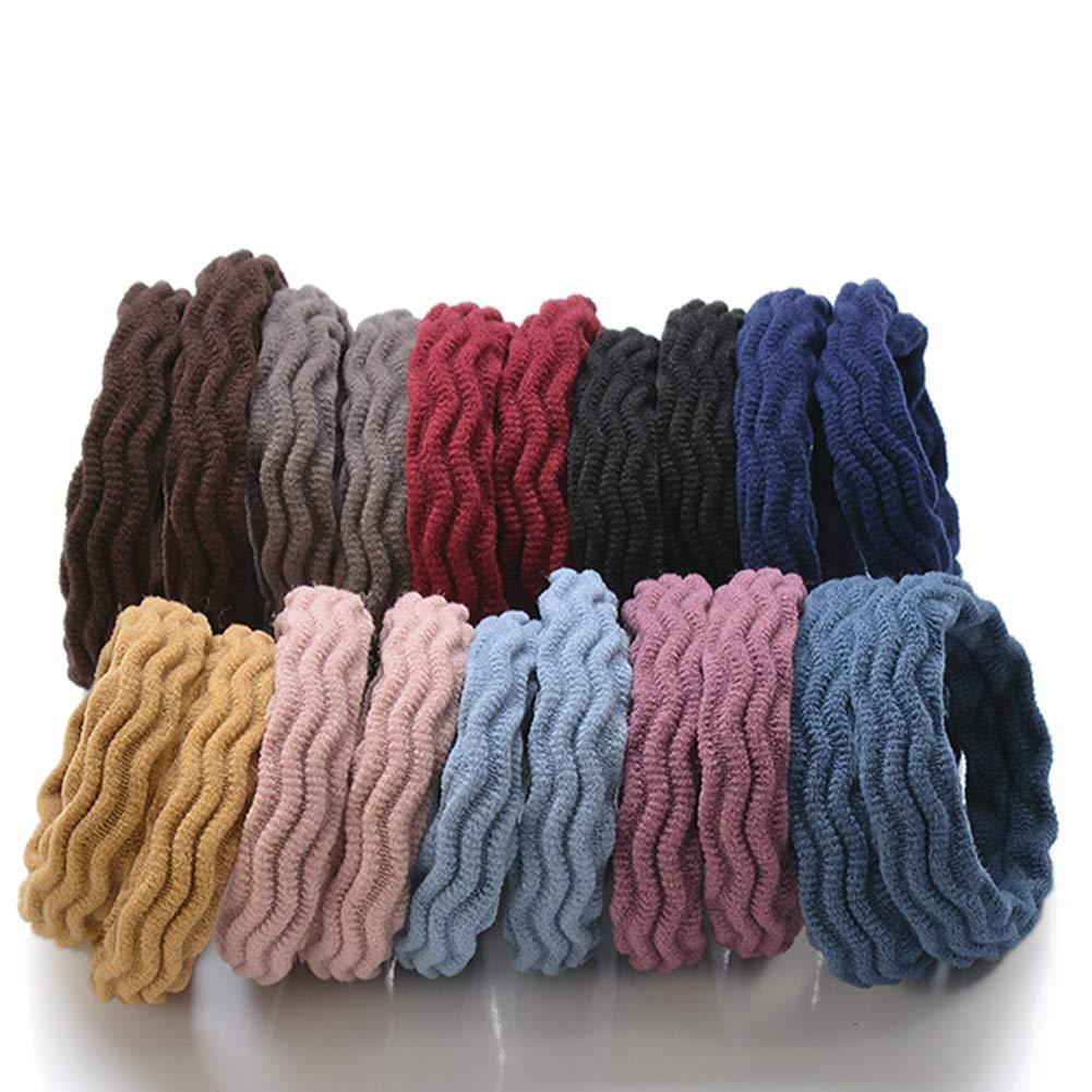 DAHI Haargummis 100stk haarband Elastische Zopfgummis Haargummi in 10 farben Netz