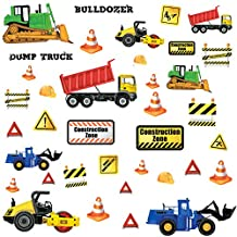 RoomMates RMK2330SCS Construction Trucks Peel and Stick Wall Decals