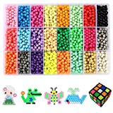 Water Sticky Beads,ITOY&IGAME 24 Colour DIY Water Sticky Beads Water Magic Bean with Whole Set Accessories Fuse Beads Building Blocks Creative Educational Building DIY Toys Learning Toys for Kids