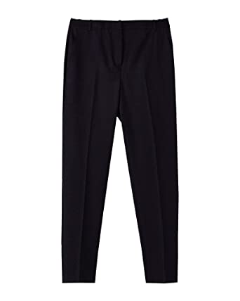 Massimo Dutti Hose Skinny Jeans schwarz Coated Größe 34