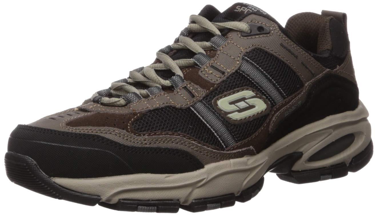 Skechers Sport Men's Vigor 2.0 Trait Memory Foam Sneaker, Black, 15 XW US by Skechers