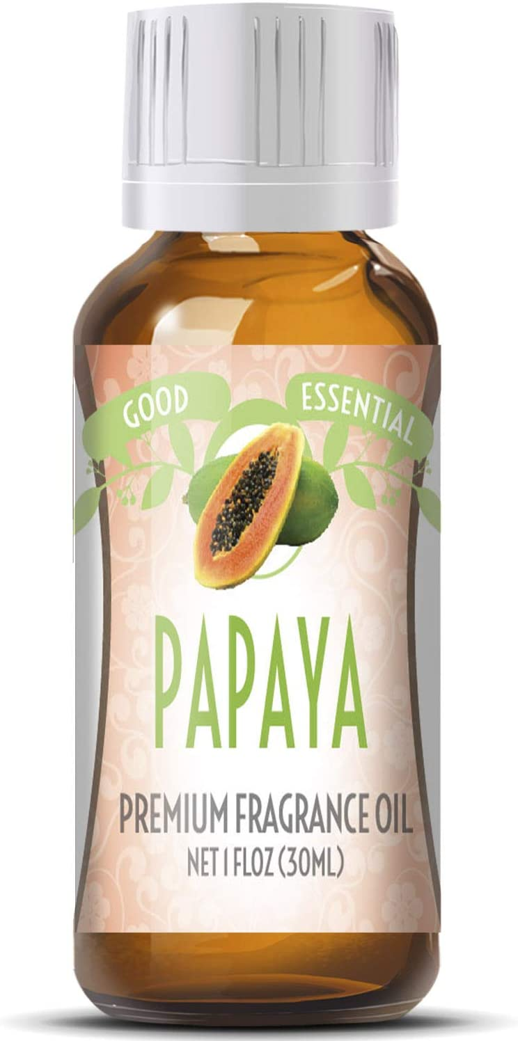 Papaya Scented Oil by Good Essential (Huge 1oz Bottle - Premium Grade Fragrance Oil) - Perfect for Aromatherapy, Soaps, Candles, Slime, Lotions, and More!