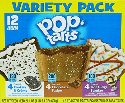 Pop Tarts Variety Pack Cookies Creme Cream Hot Fudge 12 count 21.1 ounce