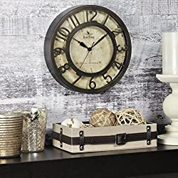 FirsTime & Co. Raised Number Wall Clock, 8, Oil Rubbed Bronze