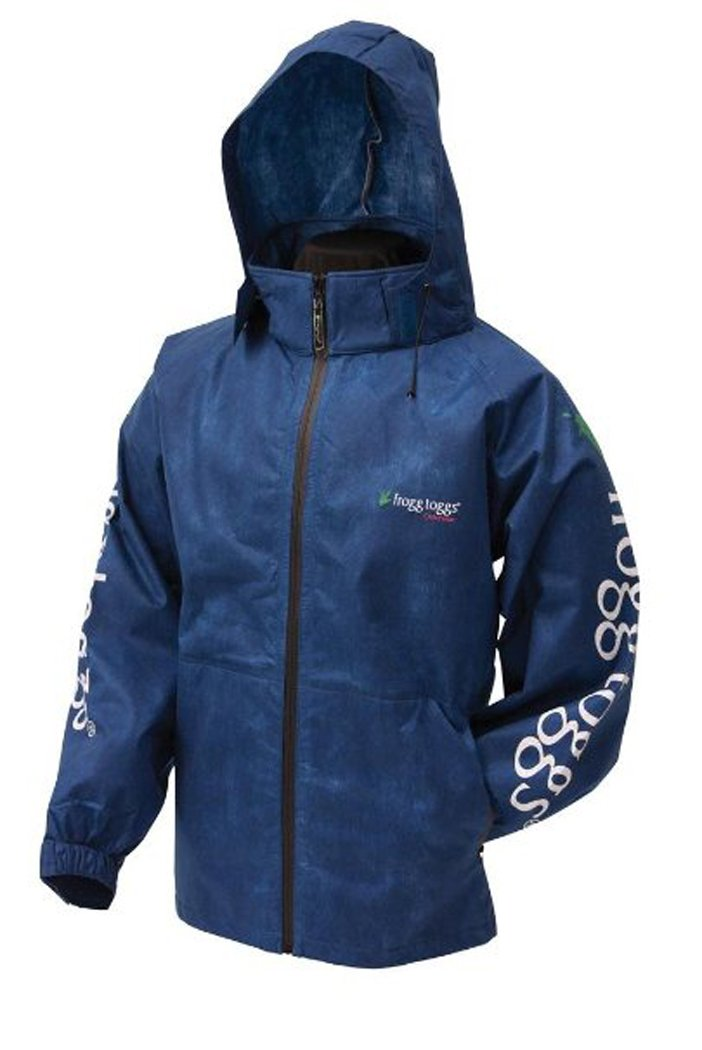Frogg Toggs Men's All Sports Full Zip Ft Jacket Large Royal Blue