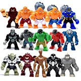 Hot 15 Sets Big Minifigures Super Heroes Avengers Hulk Venom Groot fits lego