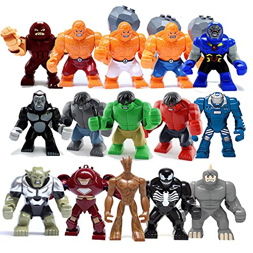 TONGROU Hot 15 Big figures lot set mini Avengers Venom Thing (Michael Jackson Werewolf Costume)