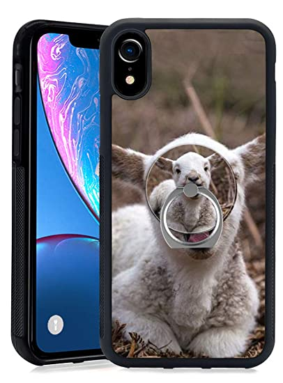 new concept eda00 98fe7 Amazon.com: iPhone Xr Goat Case with Ring Holder Stand Cellphone 360 ...