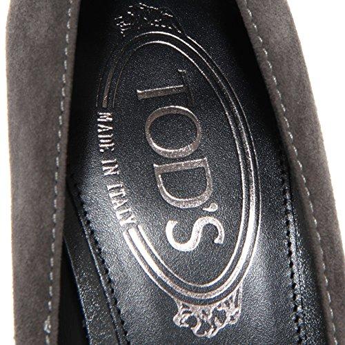 Decollete Grigia Tod's Women Scuro Shoes Grigio PIRAMIDE 76803 Cuoio Donna 5tqwpv