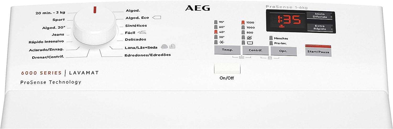 AEG L6TBK621 Lavadora de Libre Instalación, Carga Superior, 6 Kg ...