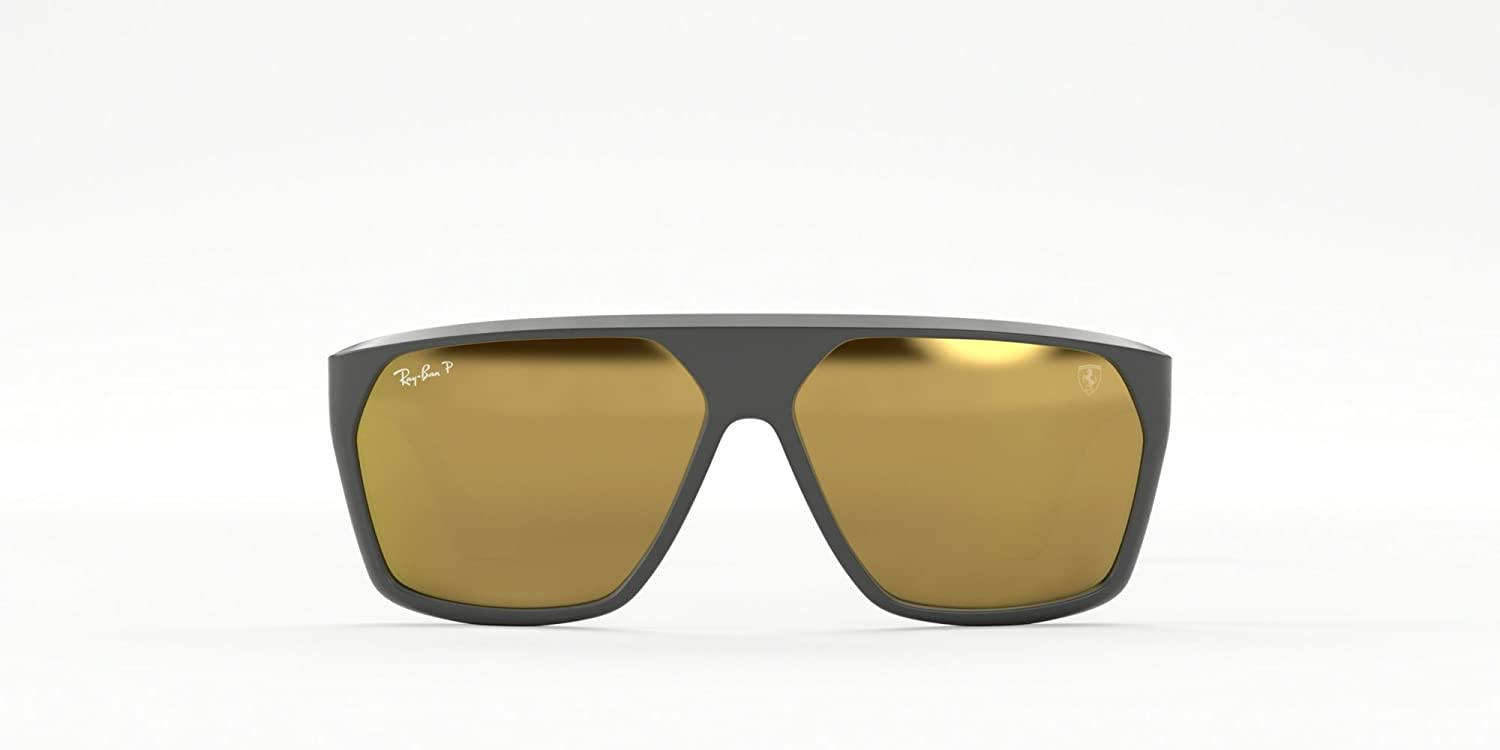 debcfbef49 Amazon.com  RAY-BAN RB4309M - F6086B SUNGLASSES MATTE GREY BROWN MIRROR  GOLD POLAR 61MM  Clothing