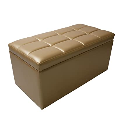 Phenomenal Magshion Rectangle Living Unfold Storage Ottoman Bench Footstools Seat End Coffee Table Gold Gamerscity Chair Design For Home Gamerscityorg