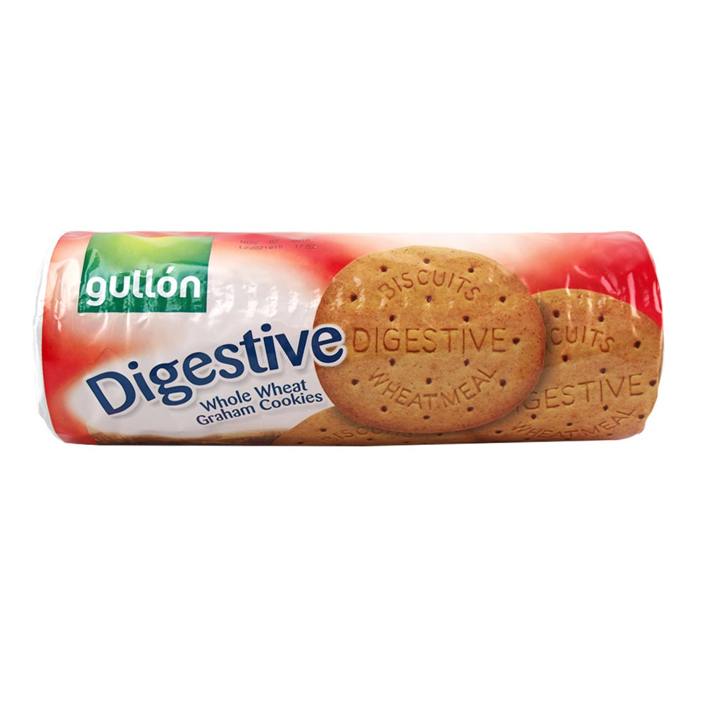 Gullon Digestive Biscuits  Wheatmeal-Whole Wheat Graham Cookies (no Cholesterol) 14.1 Ounce by Galletas Gullon, S.A.