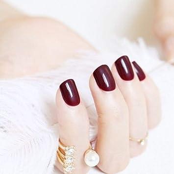 Nuevas 24 uñas postizas de color profesional, fáciles de ...