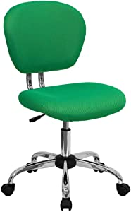 Flash Furniture Mid-Back Bright Green Mesh Padded Swivel Task Office Chair with Chrome Base