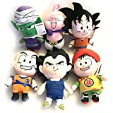 Anime Dragon Ball Z DBZ Vegeta Goku Gohan Piccolo MajinBuu Krillin Plush Doll SET