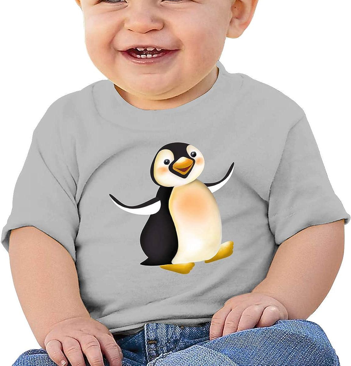 FOECBIR Funnt Penguin Toddler Short Sleeve Tee Girl Birthday Gift