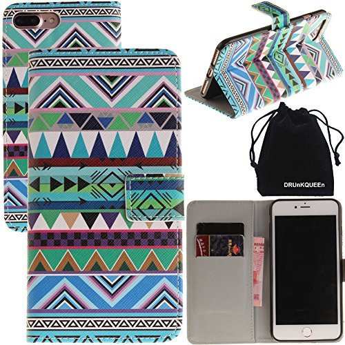 """DRUnKQUEEn iPhone 7 Wallet Purse Type Leather Credit Cards Case with Cellphone Holder Flip Cover for iPhone 7(4.7"""")"""
