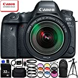 Canon EOS 6D Mark II with EF 24-105mm f/3.5-5.6 IS STM Lens - 15PC Accessory Bundle Includes 3 Piece Filter Kit (UV, CPL, FLD) + Sling Backpack + 32GB SD Memory Card + Full-Size 72 Tripod + MORE