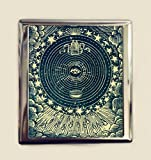 Eye Tarot Cigarette Case Business Card ID Holder Wallet Occult Esoteric Card Mysticism New Age