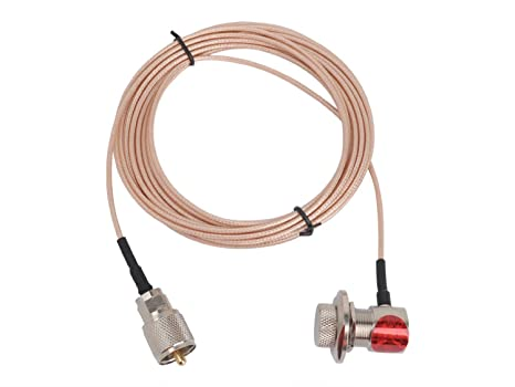 Tenq M Handheld Radios Antenna Extension Cable with Pl-259 and So-239 Connectors
