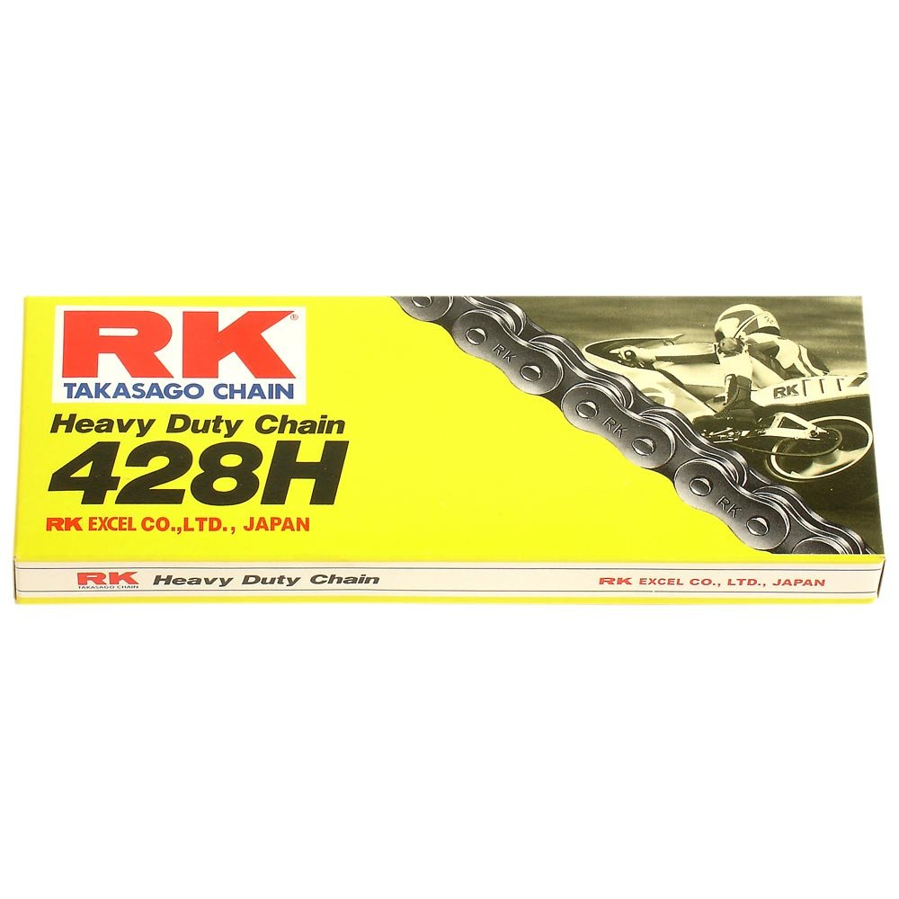 offen Motorrad Kette RK 428H mit 136 Rollen und Clipschloss