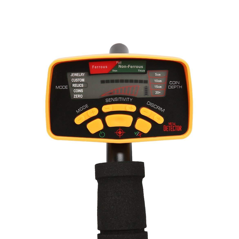 Harlls Detector de Metales subterráneo del buscador del Tesoro del Detector de Metales subterráneo MD6350 Profesional con la exhibición del LCD del ...