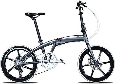 Bicicleta Plegable, Bicicleta de Carretera Citybike con 20 Pulgadas, Bicicleta de suspensión de 6-Spoke Wheels MTB, Naranja, Rueda de Rueda: Amazon.es: Deportes y aire libre