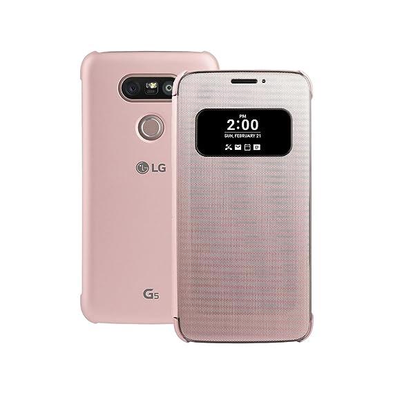 100% authentic 89c78 3fdce LG G5 Quick Cover Case CFV-160 Mesh Folio Case (PINK)