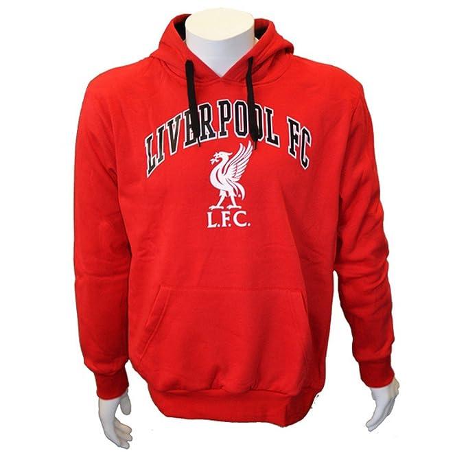 Liverpool FC - Sudadera con Capucha Hombre (S/Rojo)