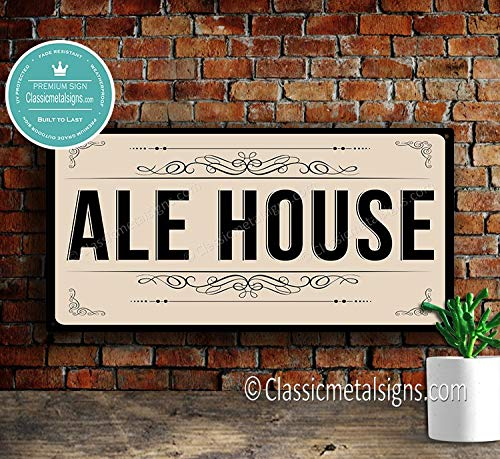 CELYCASY ALE House Sign Original Design Ale House Sign Unique Bar Signs Bar Decor Home Bar Beer Decor Home Wet Bar Decor Ale House Signs