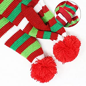 B Bascolor Pet Costume Christmas Tree Headband Scarf Adjustable Elastic Bungee Christmas Fancy Costume for Cats Dogs (S)