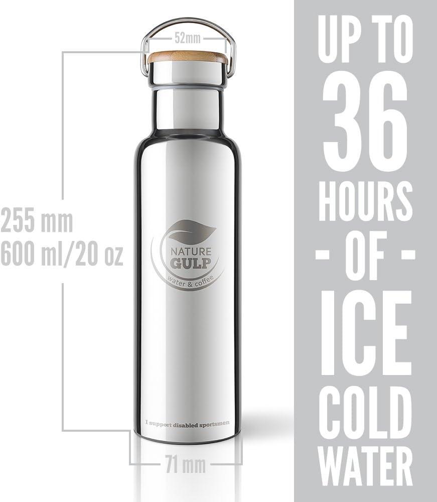 Eco friendly /& BPA free Klean Kanteen T/è Anti-goccia da viaggio Contenitore Termico Nature Gulp 12-24 Ore Freddo /& 8 Caldo 470 ml GARANZIA A VITA Thermos in acciaio Inox Tazza da Caff/è