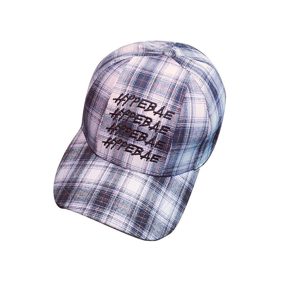 EOWEO Caps Hat,2019 anniversary celebration Women Men Embroidery Letter Lattice Baseball Cap Snapback Hip Hop Flat Hat