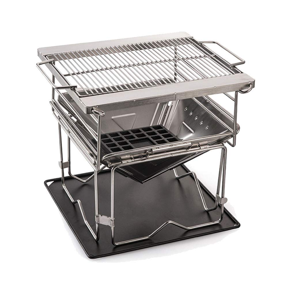 Dygzh Camping Grill Camping and Trailing Stainless Steel Barbecue Folding Portable Grill Thick Furnace Suitable for Camping Outdoor Gardens by Dygzh