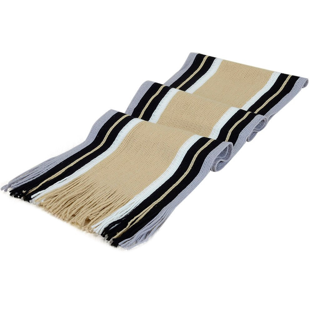 Men's Scarf,lookatool Classic Cashmere Shawl Winter Warm Fringe Striped Tassel Men's Scarf
