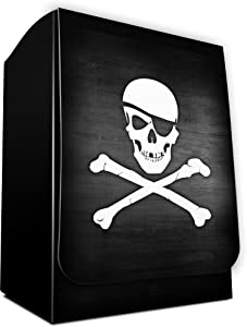 SKULL AND CROSSBONES - Dead Men Tell No Tales - 1 PIRATE Deck Box by MAX PRO (fits Standard MTG POKEMON FORCE OF WILL Cards)