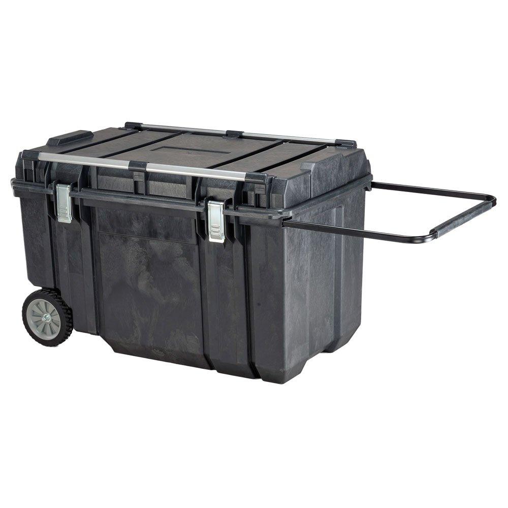 Portable Tool Box, 154 lb, 23 in. H, Black