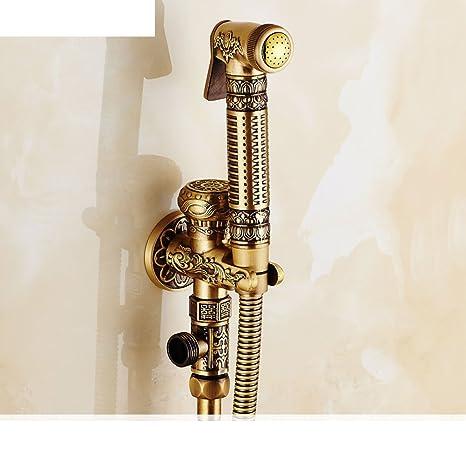 Estilo europeo WC cobre antiguo grifo de aerosol y bidet kit de lavado/ bidet/