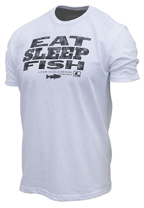 5347e104 Amazon.com: Loop NYC LOOP Fly Fishing Eat Sleep Fish T Shirt: Sports ...