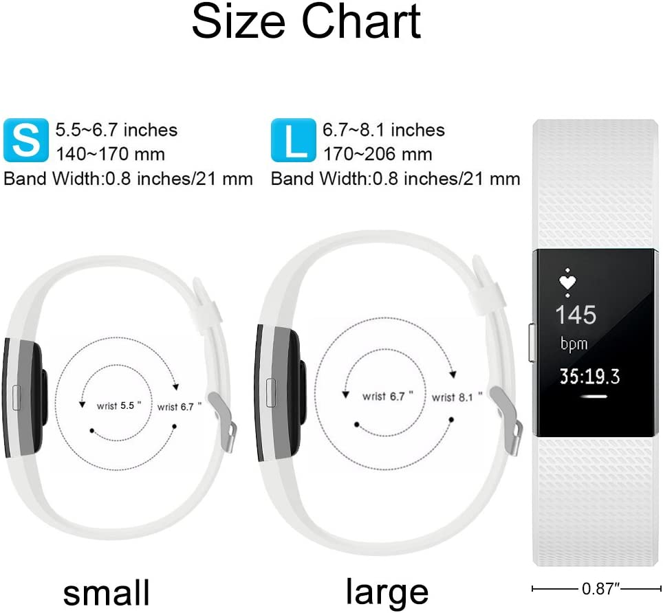 Sin Reloj Gogoings Correa para Fitbit Charge 2 Pulsera Ajustable Correa de Reemplazo Deportivo Compatible con Fitbit Charge2 para Mujeres Hombres