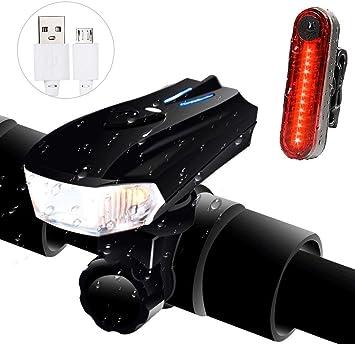 Ozvavzk Luces Bicicleta, Luces para Bicicleta LED Combinaciones de ...