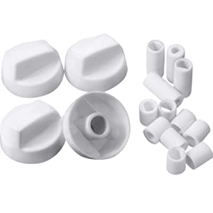 Jetec 4 Pack Control Knobs with 12 Adapters Universal Design for Oven/Stove/Range