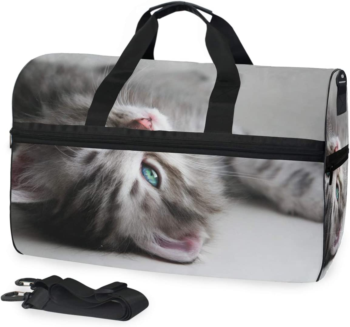 White Kitten Gym Bag