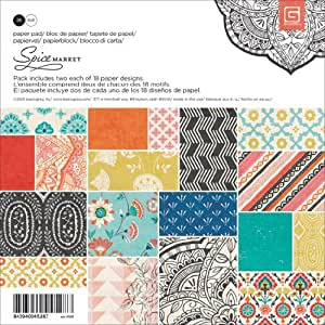 Basic Grey Basic Grey Paper Pad, 6 by 6-Inch, Spice Market, 36-Pack