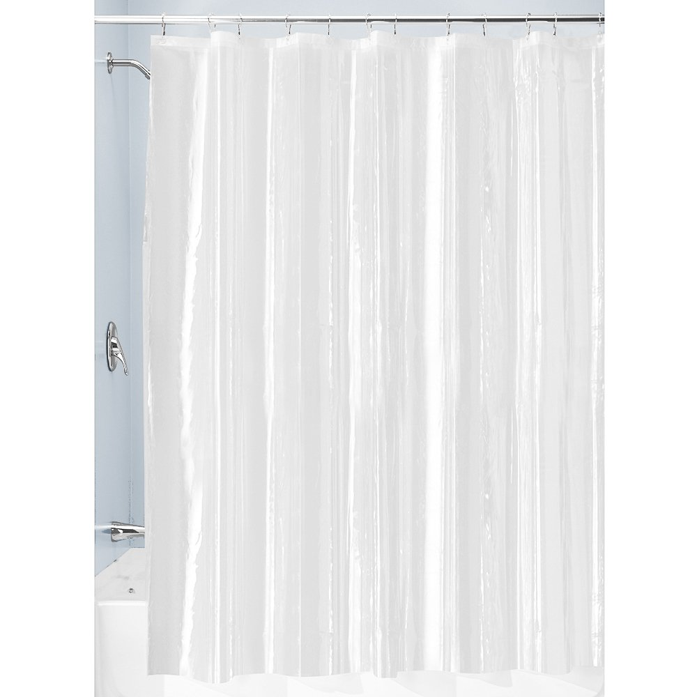 InterDesign 3.0 Liner Curtain for Shower, Made of Mould-Free PEVA, Clear, 180.0 x 180.0 cm FBA_12098EU