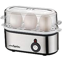 FISHTEC ® Cuiseur à oeufs - 3 oeufs - Simple d'utilisation - 210 W