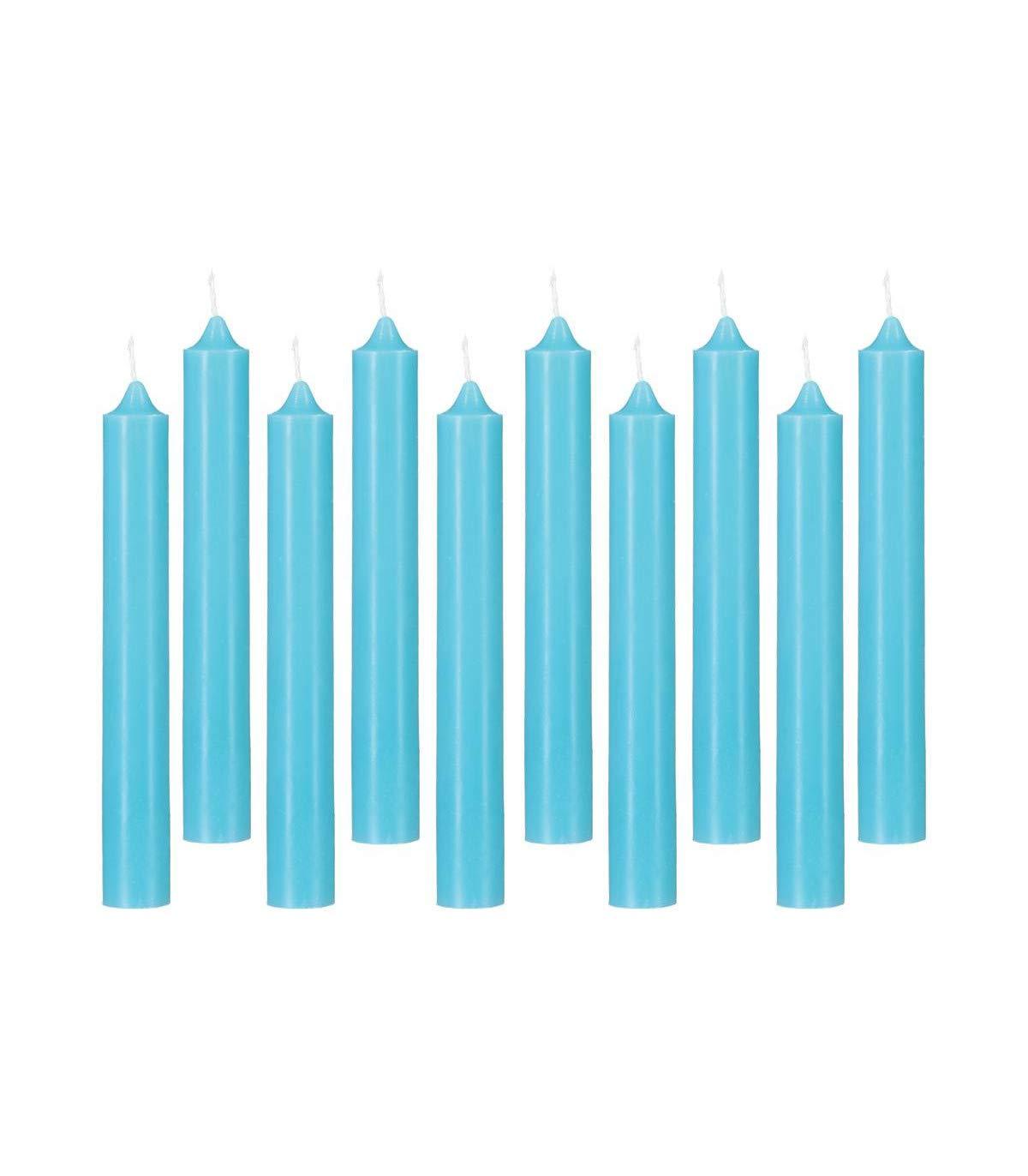 Lot de 10 b/âtons de Bougies turquoises 45G Atmosphera